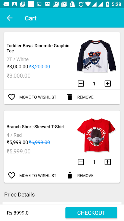 Ecommerce Trial App- screenshot