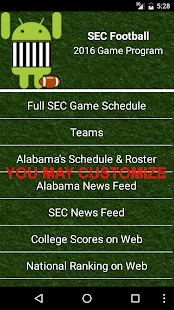 Guide for SEC Football 2016- screenshot thumbnail