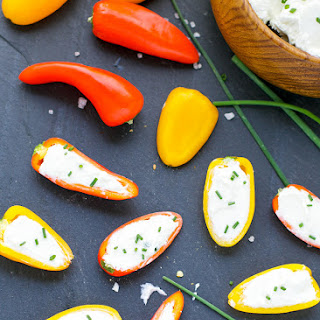 Mini Peppers With Whipped Feta.