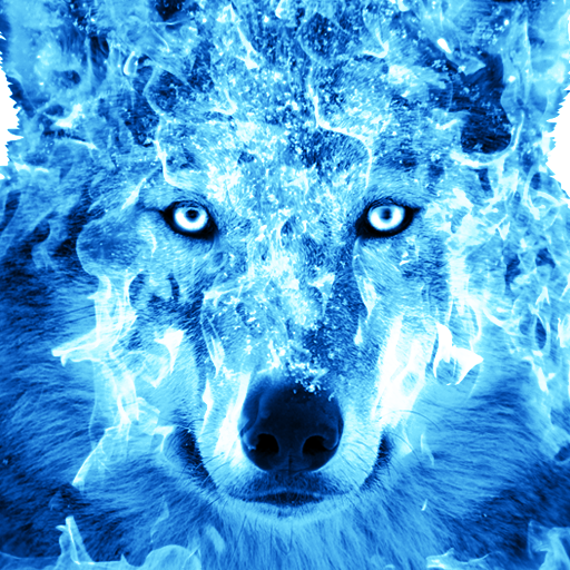 Ice Fire Wolf Wallpaper Apps On Google Play