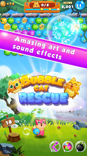 Bubble Cat Rescue - screenshot