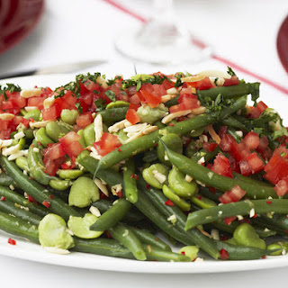 Green Bean Salad with Tomatoes and Almonds