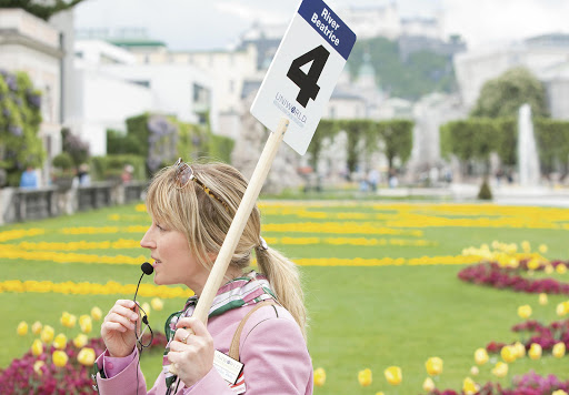 Tour-Guide-in-Salzburg.jpg - A guide in Salzburg, Austria, talks with her tour participants.