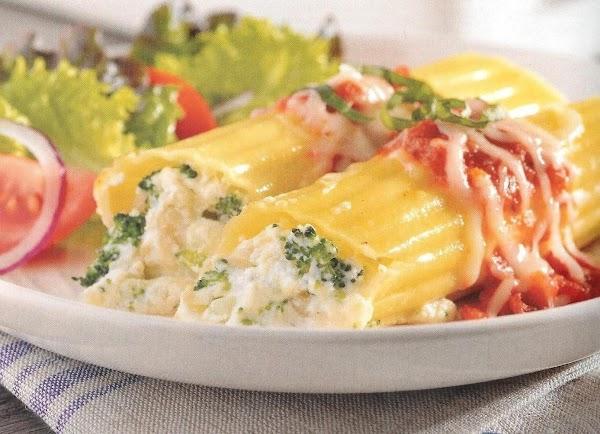 Light Vegetable Manicotti Recipe