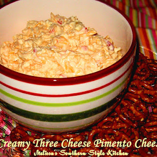 Creamy Three Cheese Pimento Cheese