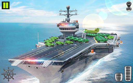 US Army Transporter Plane - Car Transporter Games apktram screenshots 14