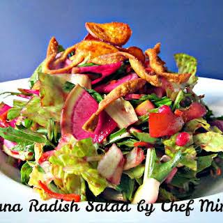 Mizuna Radish Salad.
