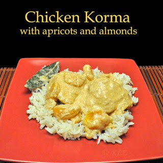 Chicken Korma, with Almonds and Apricots