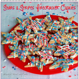 Stars and Stripes Firecracker Cookies