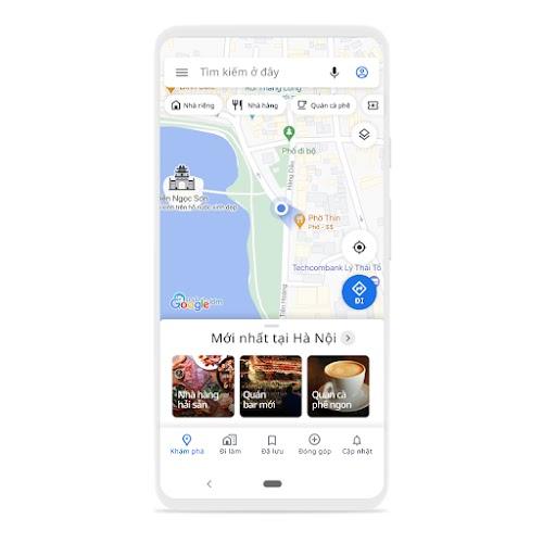 Hình một chiếc điện thoại sử dụng Maps