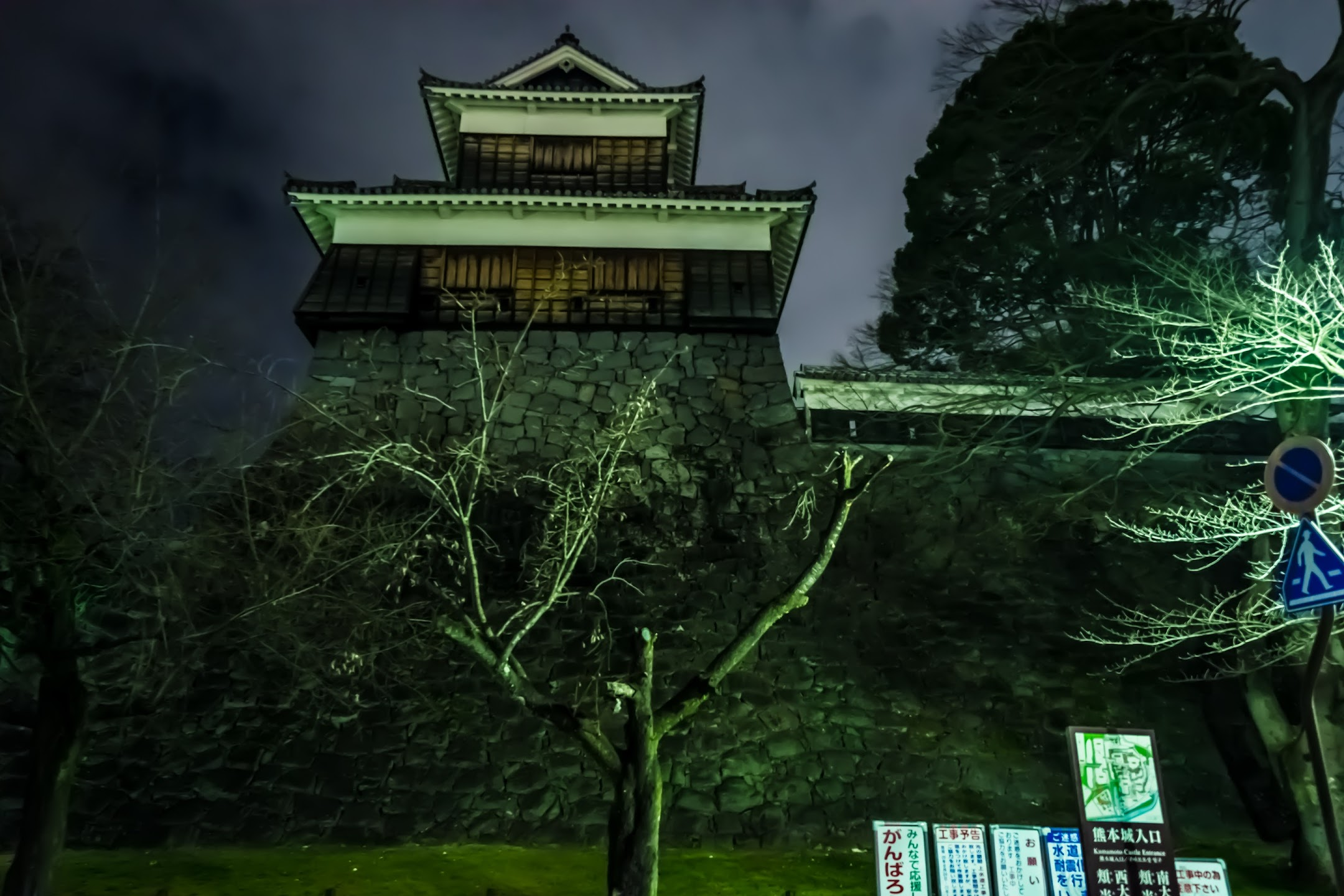 Kumamoto Castle light-up1