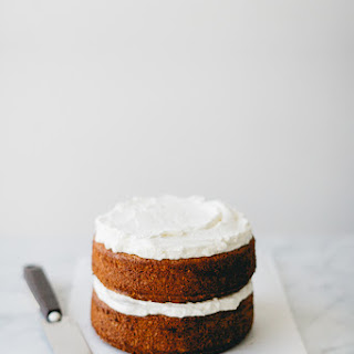 Spelt Vanilla & Blood Orange Cake w/ Whipped Cream.