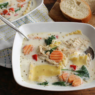 Slow-Cooker White Chicken Lasagna Soup.