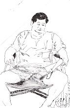 Photo: 給你畫可不可以交保?2012.06.04鋼筆 看守所的被告來看診,看見我就問: 給你畫可不可以交保?