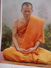 Photo: The Head Monk, Ajahn (Prof.) Supan. Wise. Funny. Kind. We met with him individually everyday so he can monitor our experiences and guide our meditation practice.  It's official...I have a monk crush.