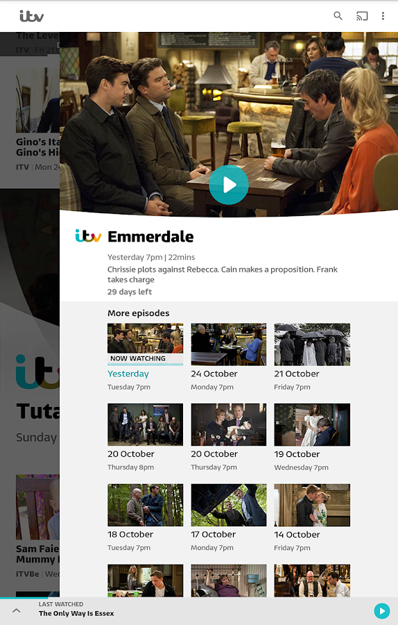ITV Hub- screenshot