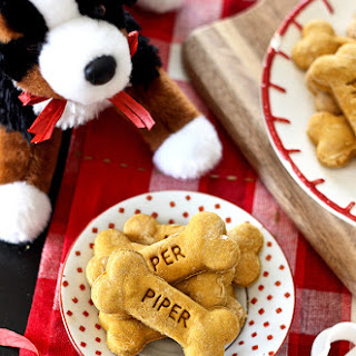 Homemade Cut-Out Dog Treats.