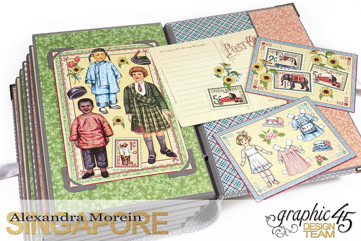 Paper Doll Play Set and Mini Album, Penny's Family Paper Doll, Tutorial by Alexandra Morein, Product by Graphic 45, Photo 19.jpg