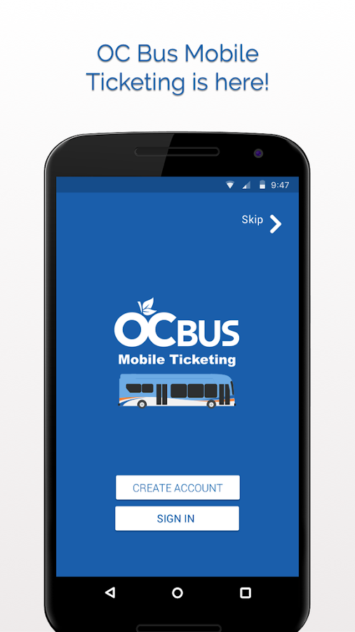 OC Bus Mobile Ticketing- screenshot