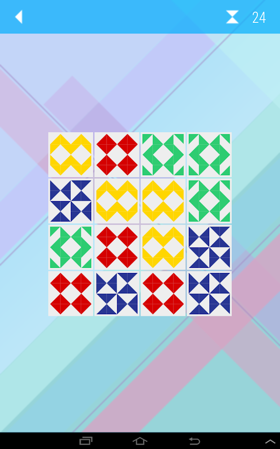 Quilt Memory Game- screenshot