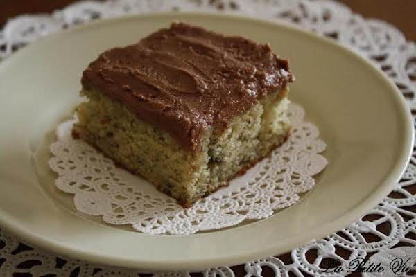 Banana Cake With Nutella Frosting Recipe