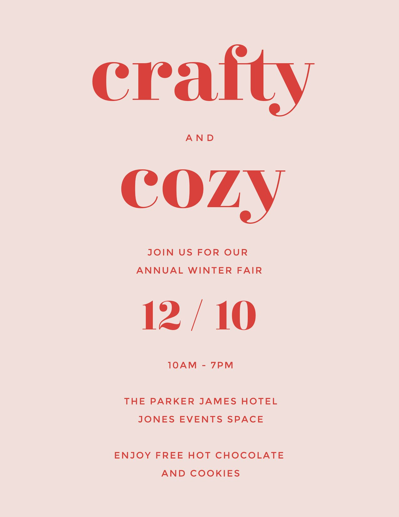 Crafty & Cozy - Flyer Template