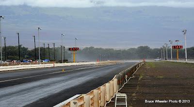Photo: rain squall at the far end