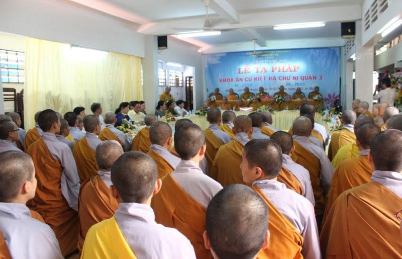 Lễ tạ pháp an cư cho chư hành giả Ni Phật giáo Q.3