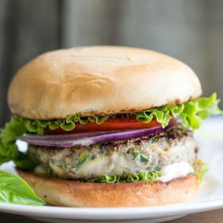 Turkey Zucchini Burger with Garlic Mayo.