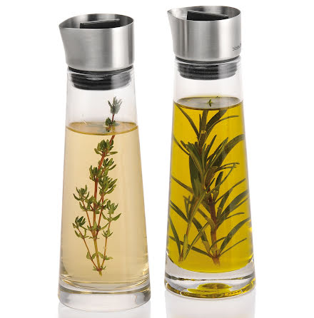 ALINJO, Set/2 glasflaskor för olja och vinäger