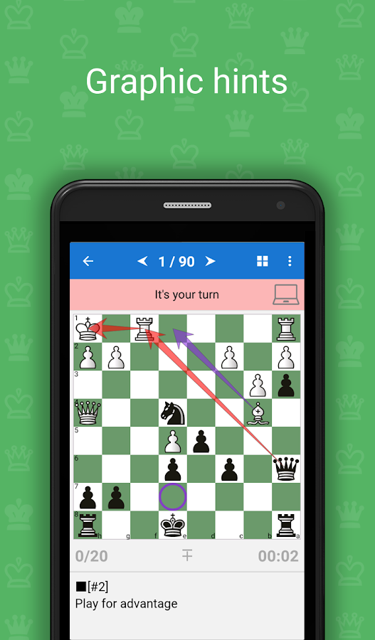 Mate Escape. Chess Puzzles- screenshot