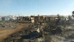 Restos del incendio registrado en el asentamiento Los Nietos en 2018.