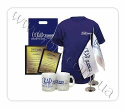 Photo: Наградные дипломы, футболки, пакеты, флажки чашки с корпоративной символикой по случаю 10-летия транспортной компании Оскар. Дизайн, производство