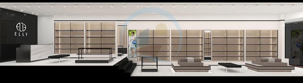 Thiết kế nội thất shop túi xách