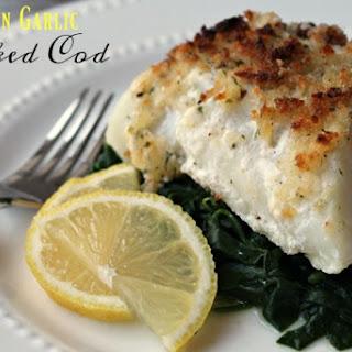 Lemon Garlic Baked Cod.