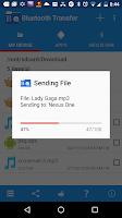 Screenshot of Bluetooth Transfer