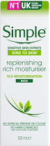 Simple Kind to Skin Replenishing Rich Moisturiser - 125ml