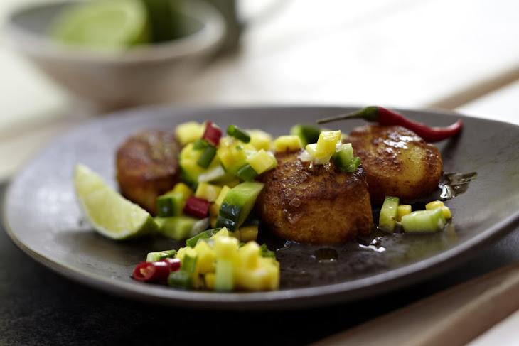 Scallops with Cucumber and Mango Relish Recipe