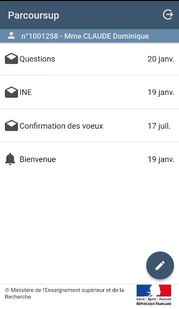 Parcoursup Android App Screenshot