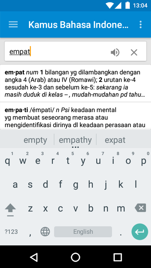 Kamus Bahasa Indonesia- screenshot
