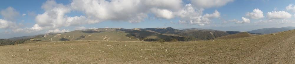 Photo: Panorama Civi - 1891 m n.p.m. W tle po prawej Kaukaz.  Tutaj turyści nie chodzą.
