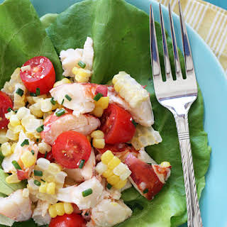 Chilled Lobster Salad with Sweet Summer Corn and Tomatoes.