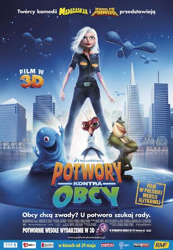 Polski plakat filmu 'Potwory Kontra Obcy'