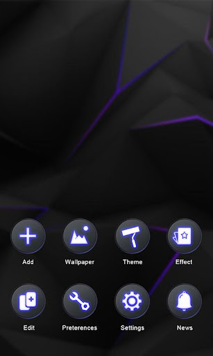 Darkness GO Launcher Theme v1.0 screenshots 5