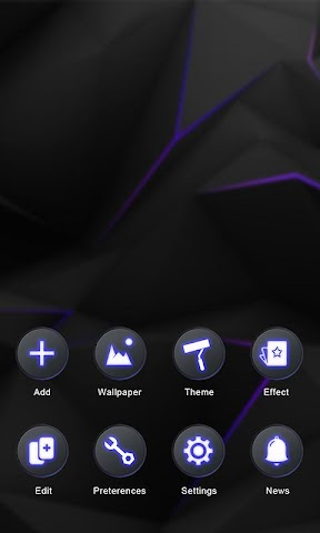 android Darkness GO Launcher Theme Screenshot 4