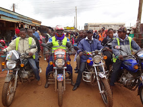 Photo: The Kangemi-Pesa outriders getting ready to clear the trail