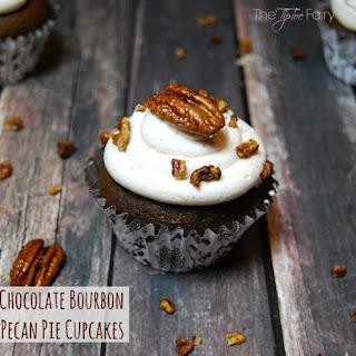 Chocolate Bourbon Pecan Pie Cupcakes