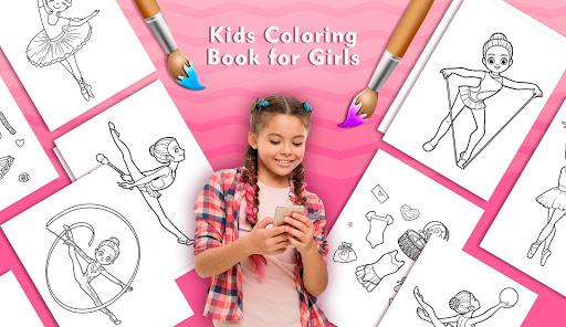 Kids Coloring Book for Girls 1.3 Cheat screenshots 1