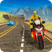 Super Hero Bike Racing Game : Endless Racing 3D