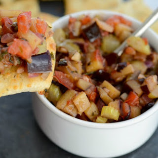 Eggplant Caponata with Pizza Dippers.